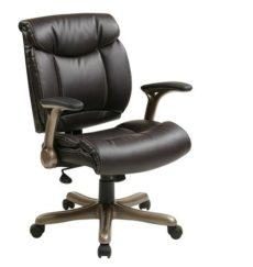 Find Office Star Work Smart ECH52661-EC1 Executive Eco Leather Chair in Cocoa/Espresso near me at OFO Orlando