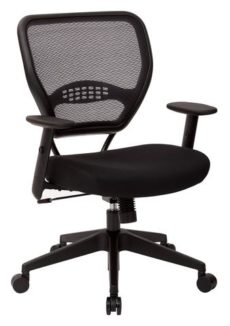 Find Office Star Space Seating 5500 Professional Black AirGrid® Back Managers Chair with Black Mesh Fabric Seat near me at OFO Orlando