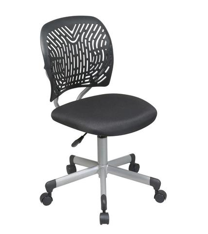 Find Office Star OSP Designs 166006-3 Designer Task Chair in Black Fabric and Plastic Back near me at OFO Orlando
