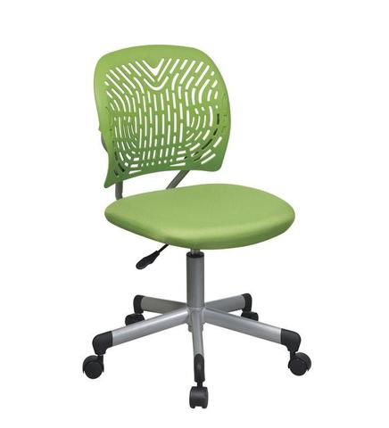 Find Office Star OSP Designs 166006-6 Designer Task Chair in Green Fabric and Plastic Back near me at OFO Orlando