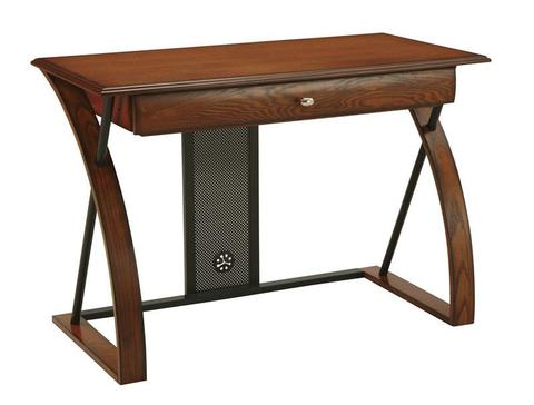 Find Office Star OSP Designs AR2544R Aurora Computer Desk with Powder-Coated Black Accents near me at OFO Orlando