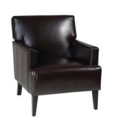 Find Office Star Ave Six CAR51A-EBD Carrington Arm Chair in Espresso Eco Leather near me at OFO Orlando