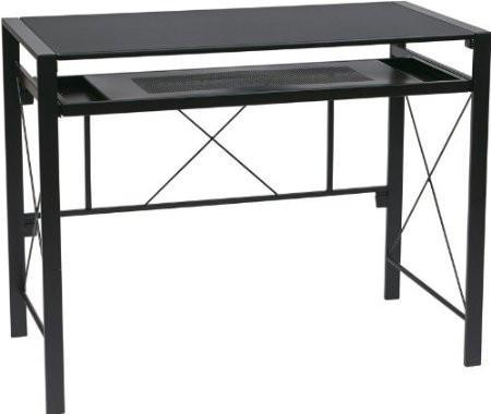 Find Office Star OSP Designs CRS25-3 Creston Desk with Black Frame and BlackTop near me at OFO Orlando