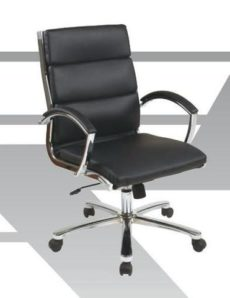 Find Office Star Work Smart FL5388C-U22 Mid Back Executive Smoke Faux Leather Chair near me at OFO Orlando