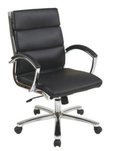 Find Office Star Work Smart FL5388C-U6 Mid Back Executive Black Faux Leather Chair near me at OFO Orlando