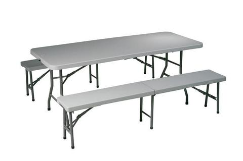 Find Office Star Work Smart QT3965 3 Piece Folding Table and Bench Set near me at OFO Orlando