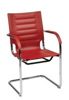 Find Office Star Ave Six TND945A-RD Trinidad Guest Chair in Red Vinyl near me at OFO Orlando