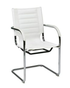 Find Office Star Ave Six TND945A-WH Trinidad Guest Chair in White Vinyl near me at OFO Orlando