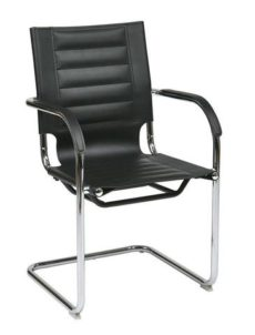 Find Office Star Ave Six TND945A-BK Trinidad Guest Chair in Black Vinyl near me at OFO Orlando