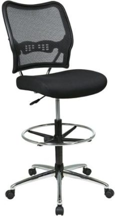Find Office Star Space Seating 13-37P500D Deluxe AirGrid® Back Drafting Chair with Mesh Seat near me at OFO Orlando