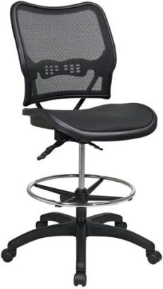 Find Office Star Space Seating 13-77N30D Deluxe Ergonomic AirGrid® Seat and Back Drafting Chair near me at OFO Orlando