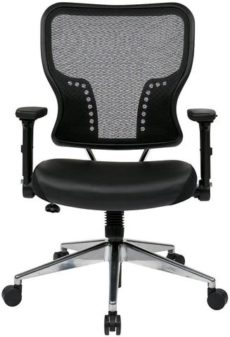 Find Space Seating 213-E37P91F3 Air Grid¨ Back and Eco Leather Seat Chair with 4-Way Adjustable Flip Arms near me at OFO Orlando