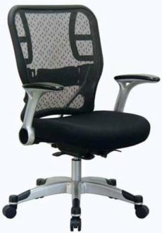 Find Office Star Space Seating 215-3R2C62R5 Deluxe R2 SpaceGrid® Back Chair With Mesh Seat
