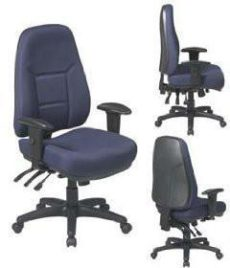Find Work Smart 2907-231 High Back Multi Function Ergonomic Chair with Ratchet Back Height and 2-way Adjustable Arms. near me at OFO Orlando
