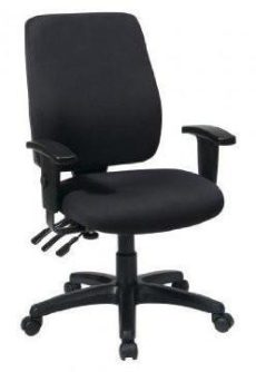 Find Office Star Work Smart 33347-30 High Back Dual Function Ergonomic Chair with Ratchet Back Height Adjustment with Arms with Custom Fabric Choice near me at OFO Orlando