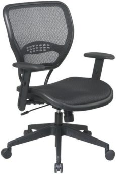 Find Office Star Space Seating 5560 Black AirGrid® Seat and Back Deluxe Task Chair near me at OFO Orlando