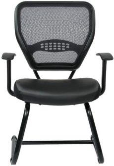 Find Space Seating 5705E Professional Air Grid¨ Back Visitors Chair with Eco Leather Seat near me at OFO Orlando