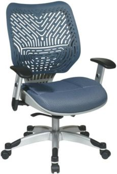 Find Office Star Space Seating 86-M77C625R Unique Self Adjusting Blue Mist SpaceFlex® Back and Raven Mesh Seat Managers Chair near me at OFO Orlando