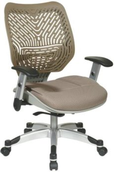 Find Office Star Space Seating 86-M88C625R Unique Self Adjusting Latte SpaceFlex® Back and Raven Mesh Seat Managers Chair near me at OFO Orlando