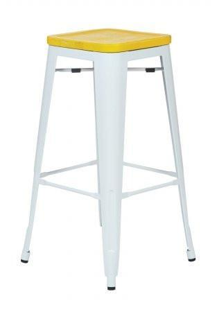 """Find OSP Designs BRW313011A2-C308 Bristow 30"""" Antique Metal Barstool with Vintage Wood Seat"""