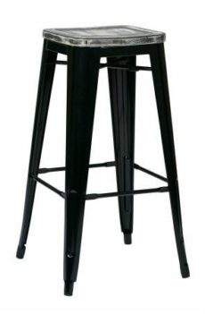 "Find OSP Designs BRW31303A2-C306 Bristow 30"" Antique Metal Barstool with Vintage Wood Seat"