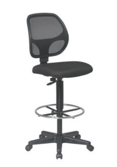 """Find Office Star Work Smart DC2990V Deluxe Mesh Back Drafting Chair with 20"""" Diameter Foot ring near me at OFO Orlando"""