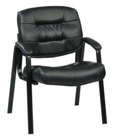 Find Work Smart EC8124-EC3 Eco Leather Visitors Chair (Black) near me at OFO Orlando