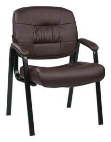 Find Work Smart EC8124-EC4 Eco Leather Visitors Chair (Burgundy) near me at OFO Orlando