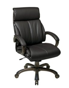 Find Office Star Work Smart ECH68801-EC1 Executive Espresso Eco Leather Chair with Locking Tilt Control and Cocoa Coated Base near me at OFO Orlando