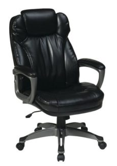 Find Office Star Work Smart ECH85807-EC3 Executive Eco Leather Chair with Padded Arms near me at OFO Orlando