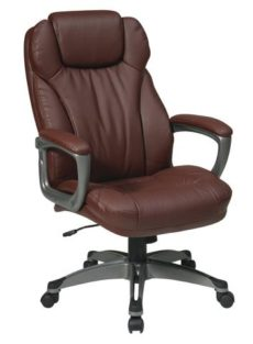 Find Office Star Work Smart ECH85807-EC6 Executive Eco Leather Chair with Padded Arms near me at OFO Orlando
