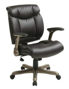 Find Office Star Work Smart ECH8967K5-EC1 Executive Eco Leather Chair in Cocoa/Espresso near me at OFO Orlando