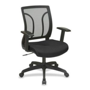 Find Office Star Work Smart EM50727-3 Screen Back Chair with Mesh Seat with Height Adjustable Arms near me at OFO Orlando