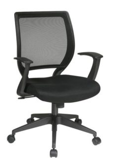 """Find Office Star Work Smart EM51022N-3 Screen Back Task Chair with """"T"""" Arms near me at OFO Orlando"""