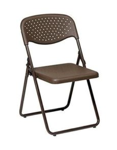 Find Office Star Work Smart FC8000NB-1 Folding Chair with Mocha Plastic Seat and Back and Mocha Frame. (4 Pack) near me at OFO Orlando