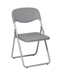 Find Office Star Work Smart FC8000NS-2 Folding Chair with Grey Plastic Seat and Back and Silver Frame. (4 Pack) near me at OFO Orlando