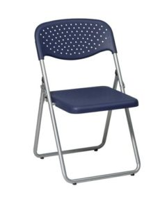 Find Office Star Work Smart FC8000NS-7 Folding Chair with Blue Plastic Seat and Back and Silver Frame. (4 Pack) near me at OFO Orlando