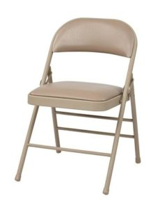 Find Work Smart FF-23124V Folding Chair with Vinyl Seat and Back (Tan) (4-Pack ) near me at OFO Orlando