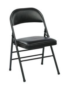 Find Work Smart FF-23324V Folding Chair with Vinyl Seat and Back (Black) (4-Pack) near me at OFO Orlando