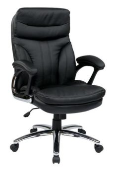 Find Work Smart FL2604C-U6 High Back Executive Faux Leather Chair with Padded Arms near me at OFO Orlando