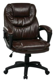 Find Office Star Work Smart FL660-U2 Faux Leather Managers Chair with Padded Arms near me at OFO Orlando