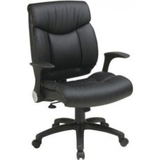 Find Office Star Work Smart FL89675-U6 Faux Leather Managers Chair with Flip Arms near me at OFO Orlando