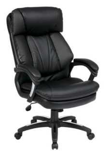 Find Office Star Work Smart FL9097-U6 Oversized Faux Leather Executive Chair with Padded Loop Arms near me at OFO Orlando