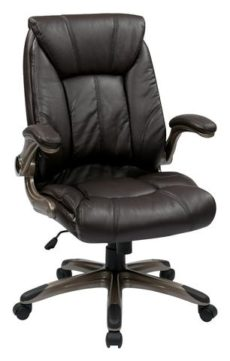 Find Work Smart FLH24981-U1 Faux Leather Mid Back Managers Chair with Padded Flip Arms near me at OFO Orlando