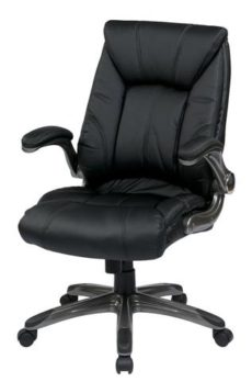 Find Work Smart FLH24987-U6 Faux Leather Mid Back Managers Chair with Padded Flip Arms near me at OFO Orlando