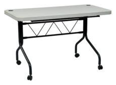 Find Work Smart FT6634 4Õ Resin Multi Purpose Flip Table with Locking Casters near me at OFO Orlando