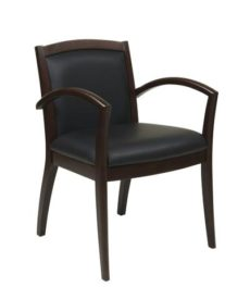 Find OSP Furniture NAP97ESP-EC3 Napa Espresso Guest Chair With Full Cushion Back (1-Pack) near me at OFO Orlando