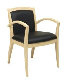 Find OSP Furniture NAP97MPL-EC3 Napa Maple Guest Chair With Full Cushion Back (1-Pack) near me at OFO Orlando