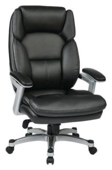 Find Work Smart OPH61606-EC3 Executive Eco Leather Chair (Silver/Black) near me at OFO Orlando