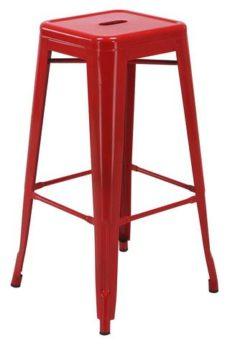 "Find Work Smart / OSP Designs PTR3030A2-9 30"" Steel Backless Barstool (2-Pack) (Red) near me at OFO Orlando"
